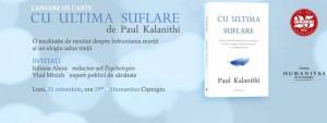 """Lansare de carte: """"Cu ultima suflare"""", de Paul Kalanithi"""