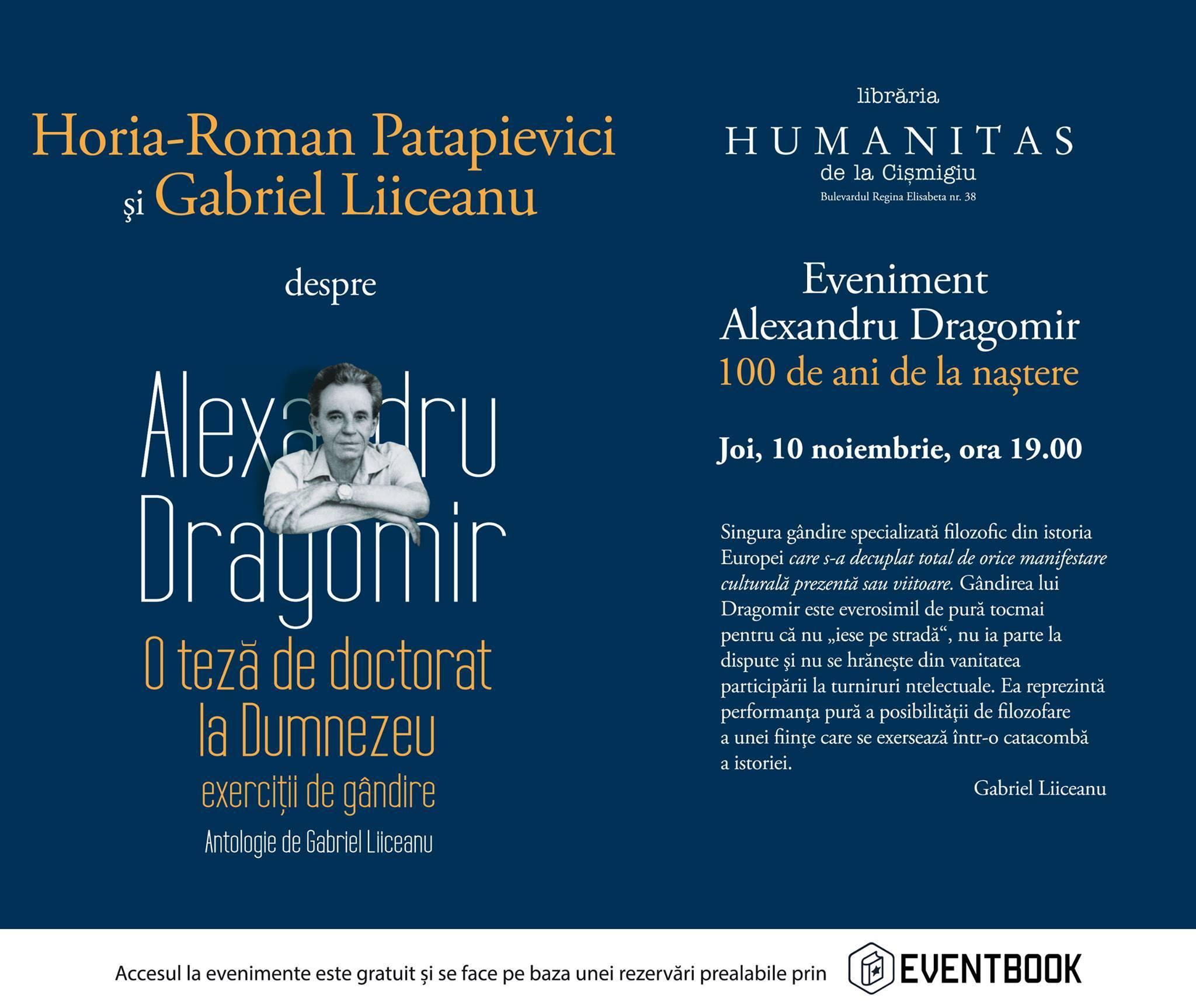 Întâlnire-eveniment cu Horia-R. Patapievici şi Gabriel Liiceanu