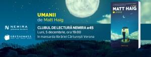 "Clubul de lectură Nemira #45 - ""Umanii"", de Matt Haig"