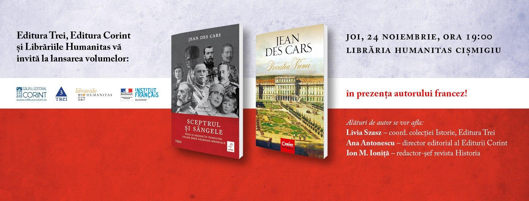 Întâlnire cu autorul francez Jean des Cars
