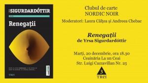 """Clubul de carte Nordic Noir: """"Renegații"""", de Yrsa Sigurðardóttir"""