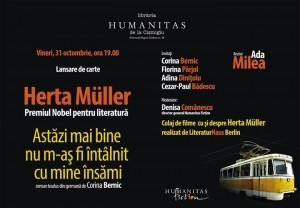 """Lansare Herta Müller, """"Azi mai bine nu m-aș fi întâlnit cu mine însămi"""""""