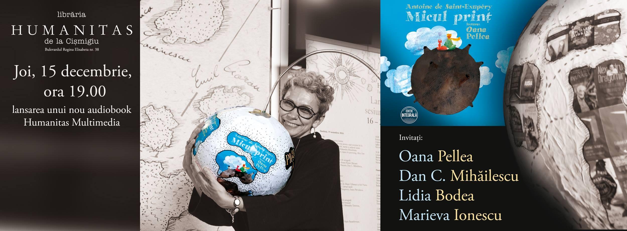 Micul Prinț în lectura Oanei Pellea. Lansare de audiobook