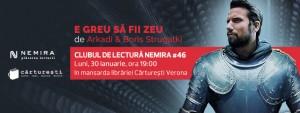 """Clubul de lectură Nemira #46 - """"E greu să fii zeu"""", de Arkadi și Boris Strugațki"""