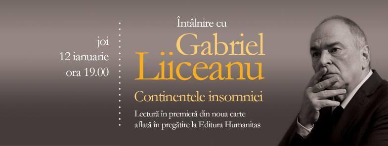 Întâlnire cu Gabriel Liiceanu