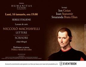 """Seară Italiană : """"Scrisori"""" de Niccolò Machiavelli"""
