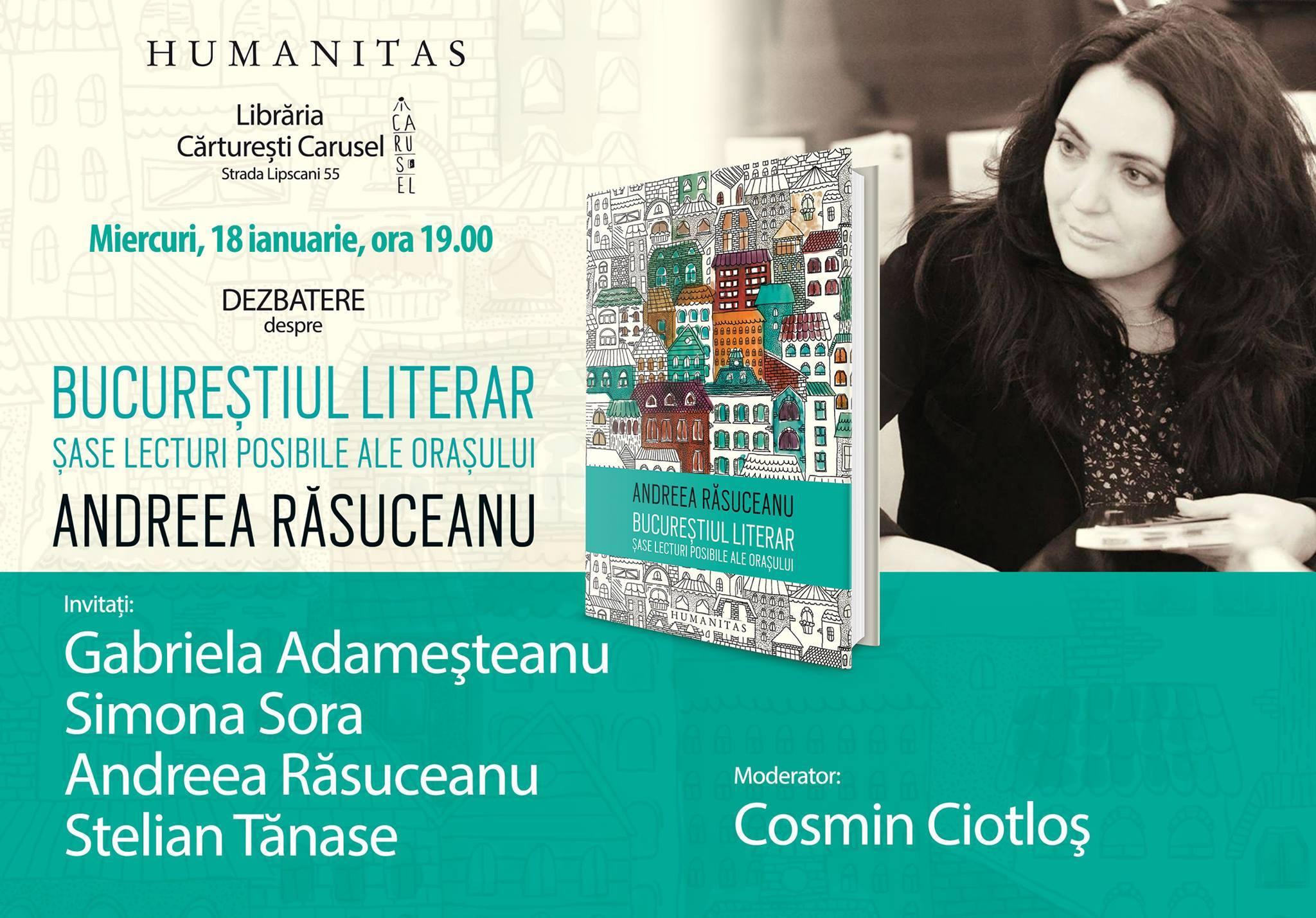 """Dezbatere despre """"Bucureștiul literar"""