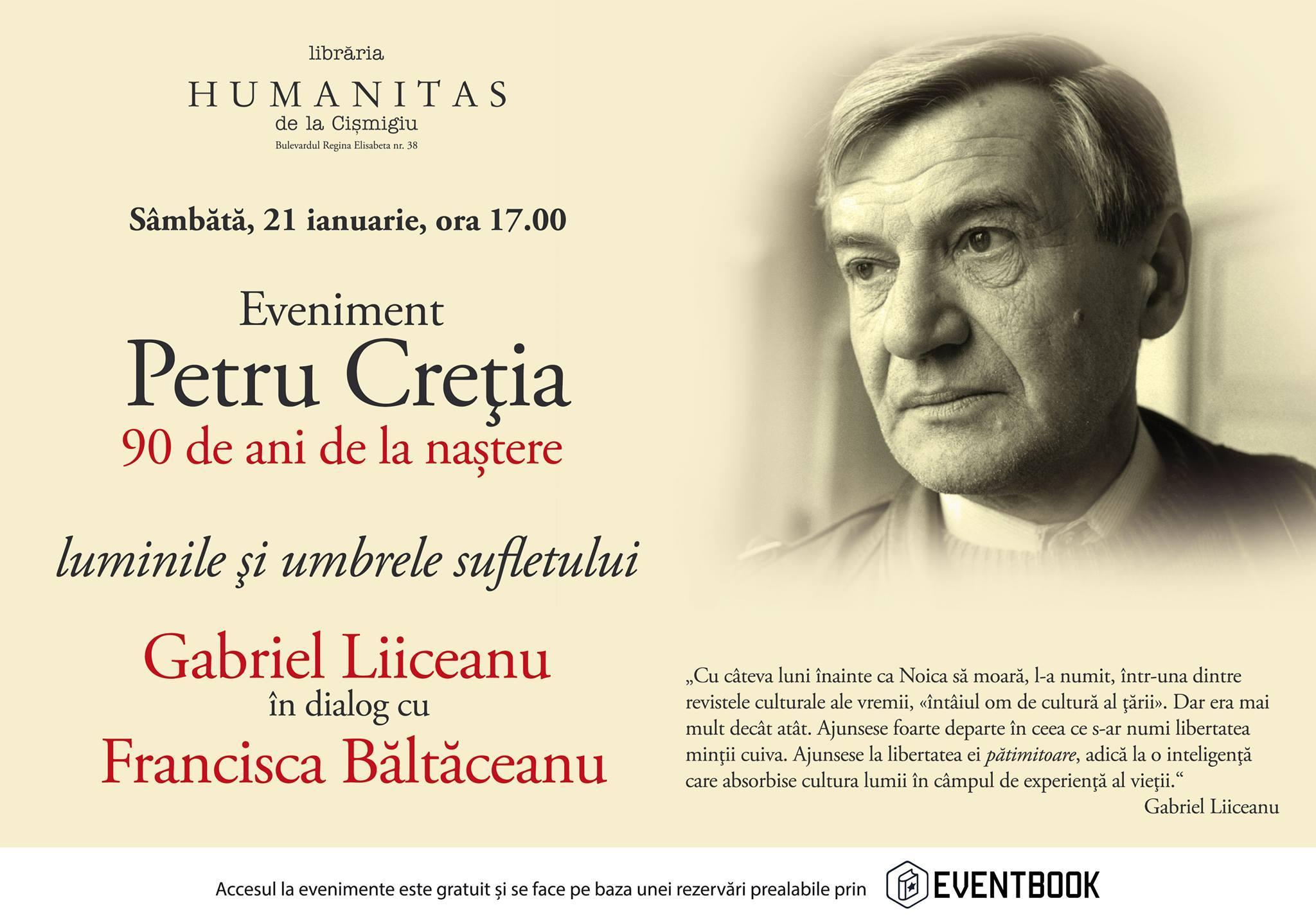 Gabriel Liiceanu în dialog cu Francisca Băltăceanu