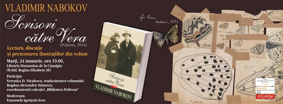 "Eveniment dedicat lui Vladimir Nabokov: ""Scrisori catre Vera"""