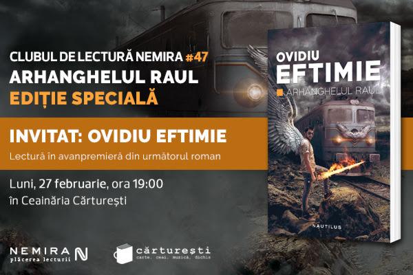 Clubul de lectură Nemira #47 – ediție specială cu Ovidiu Eftimie
