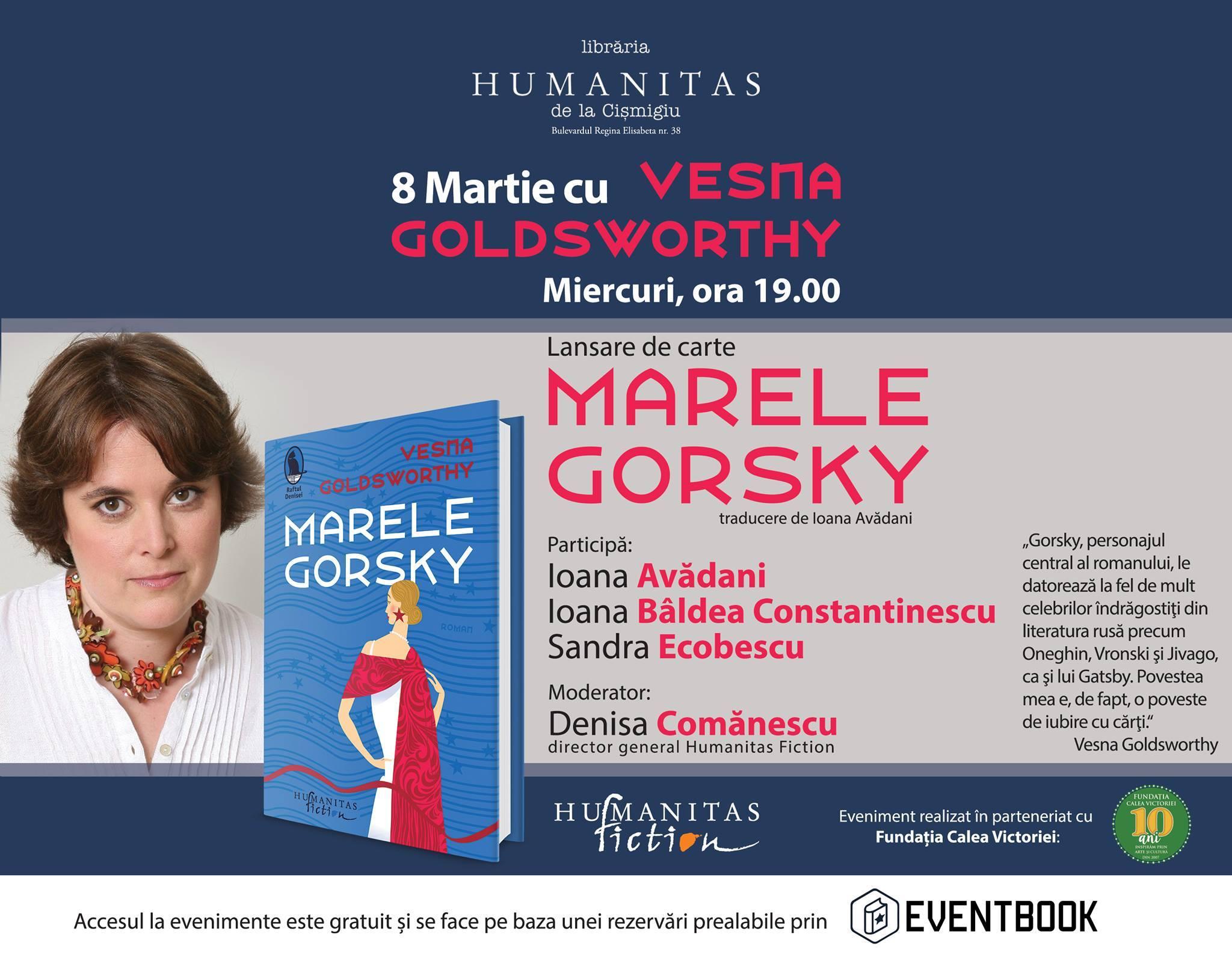 "Lansare ""Marele Gorsky"", de Vesna Goldsworthy"
