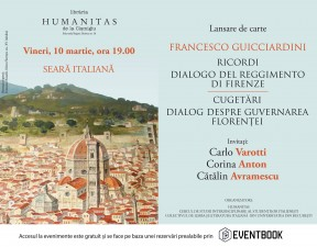 Seară Italiană la Humanitas Cişmigiu – Francesco Guicciardini
