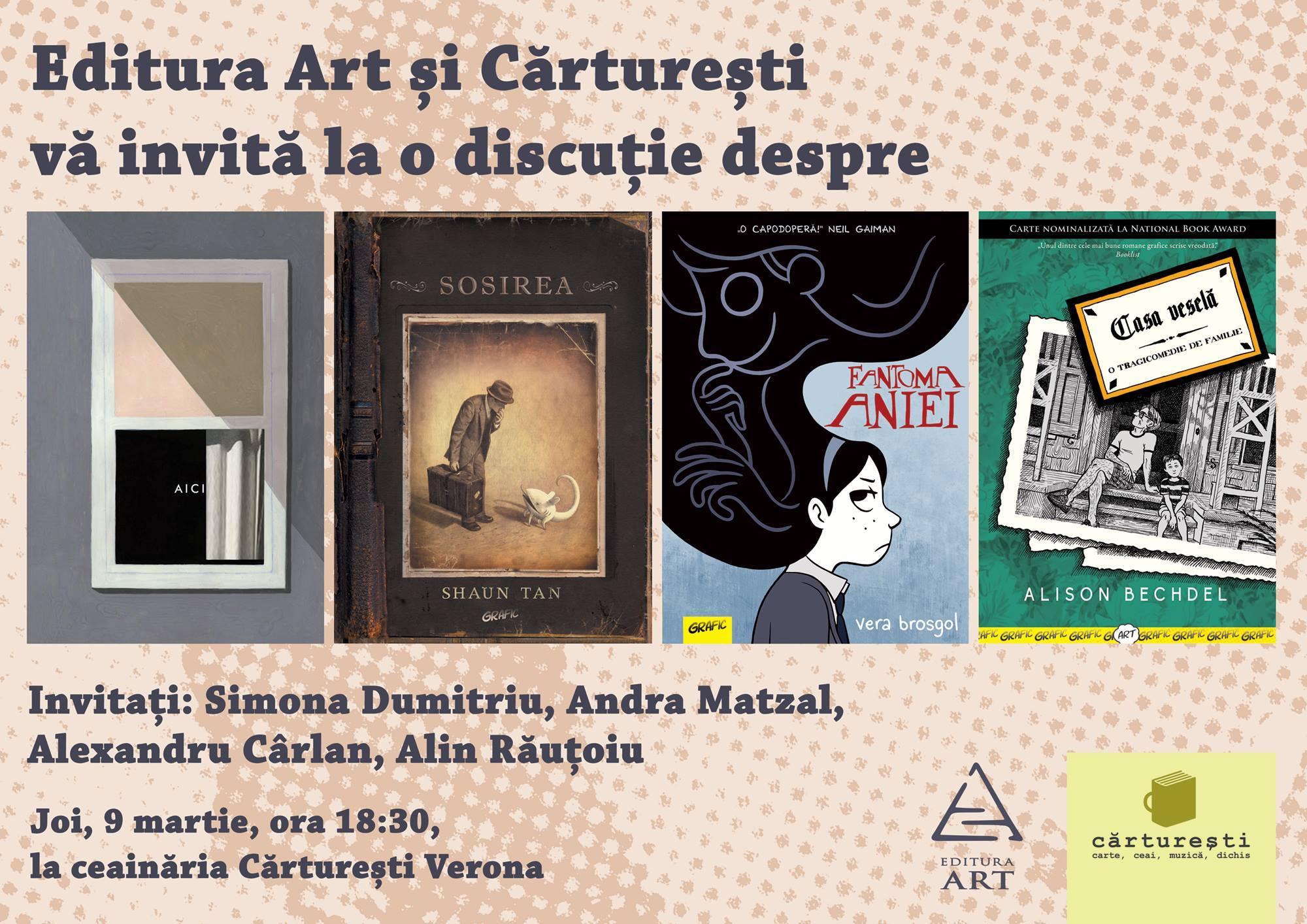 Povești despre colecția Grafic în Cărturești Verona & Fandom