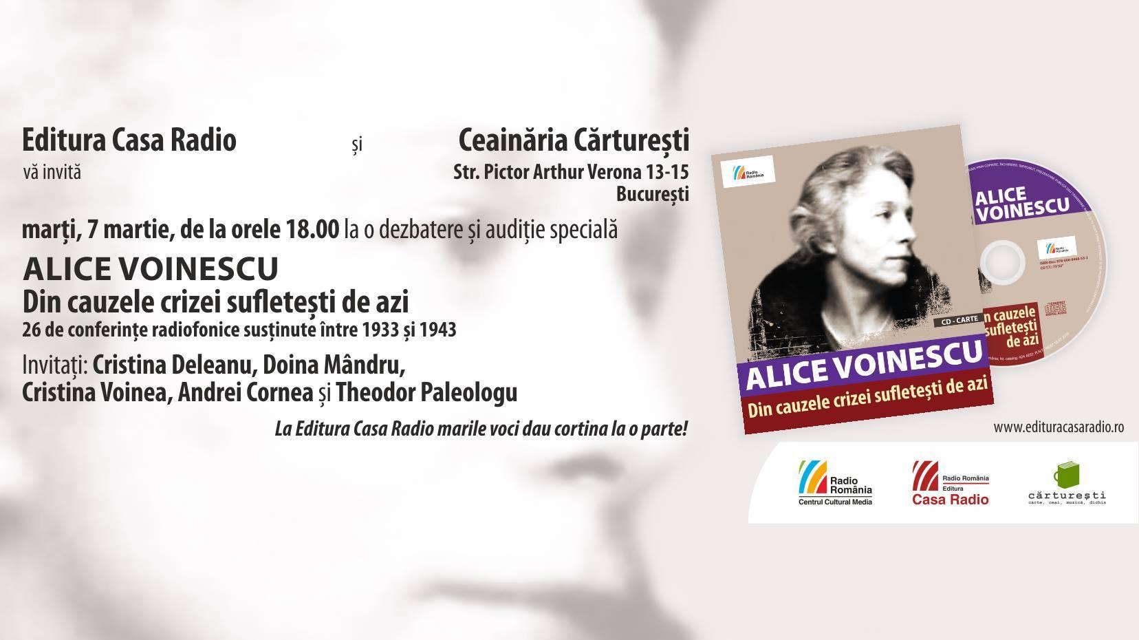 Eveniment Alice Voinescu