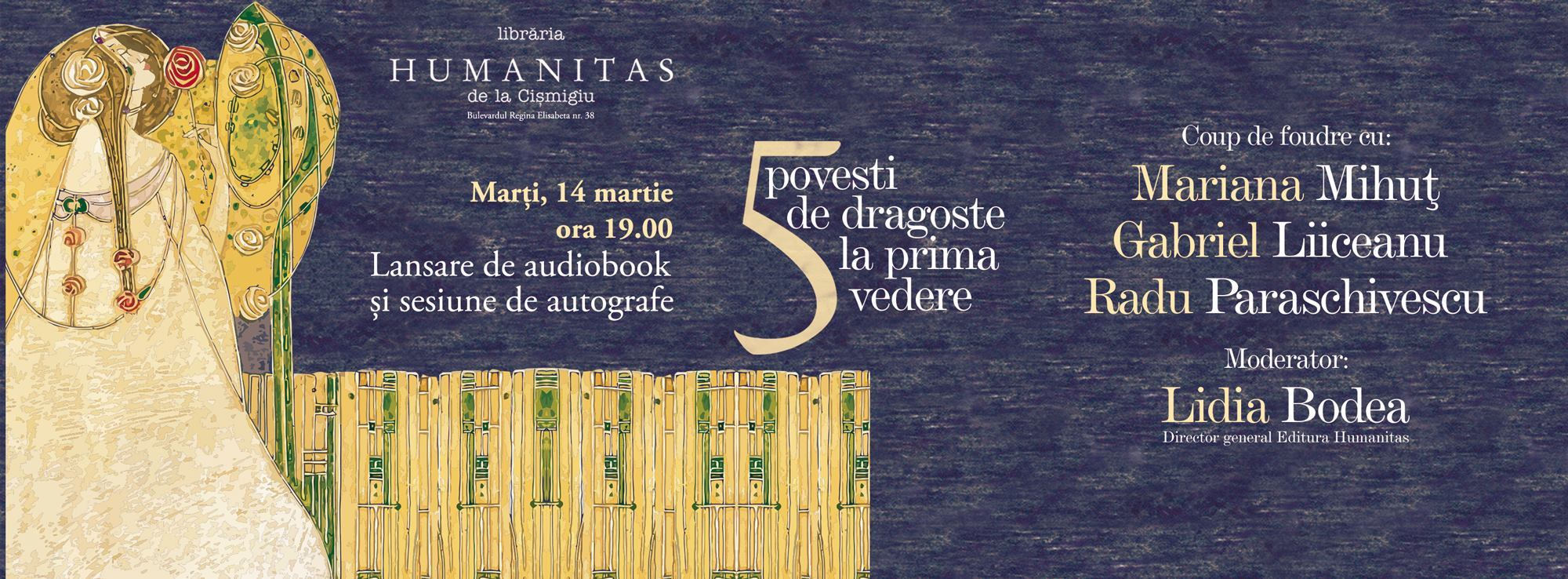 """Lansarea audiobook-ului """"Povești de dragoste la prima vedere"""""""