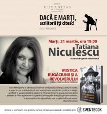 Tatiana Niculescu, lectură în premieră dintr-o nouă carte