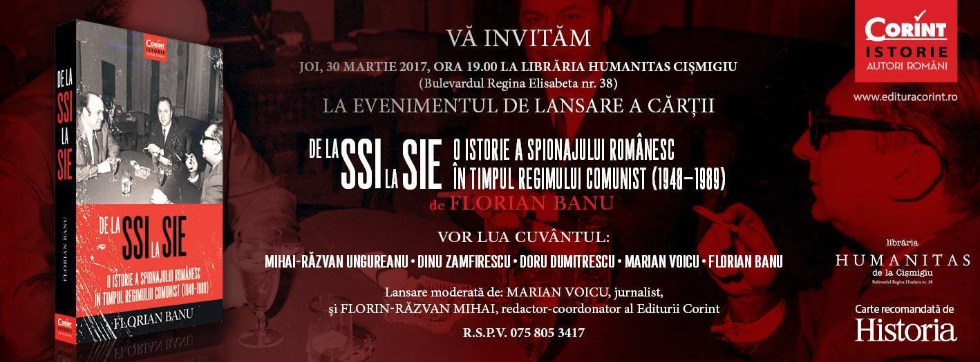 "Lansare ""De la SSI la SIE"" de Florian Banu"