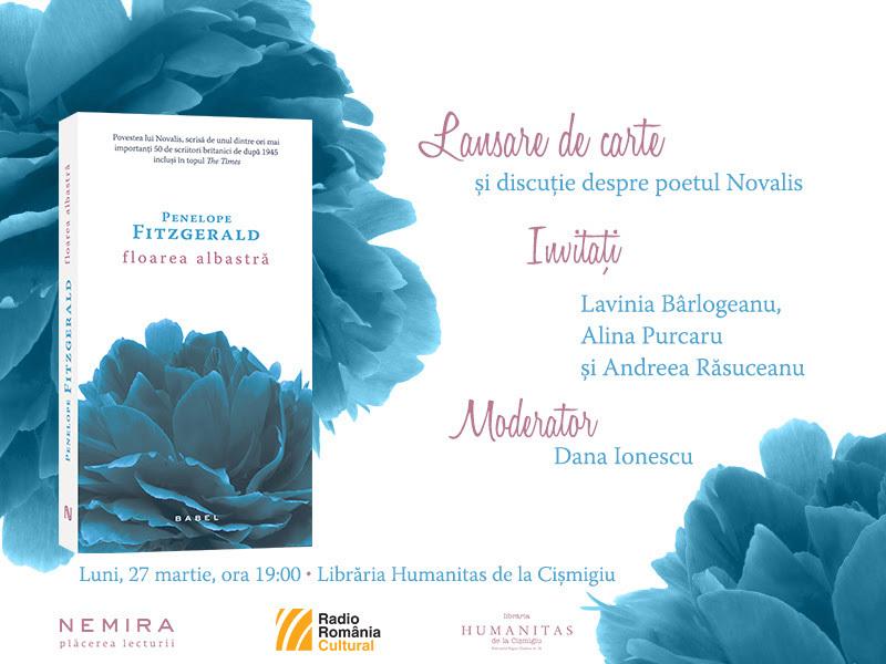 """Lansare """"Floarea albastră"""", de Penelope Fitzgerald"""