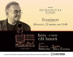 """""""Cărţile care ne-au făcut oameni, cu Dan C. Mihăilescu"""": Biblia, o carte cât lumea"""