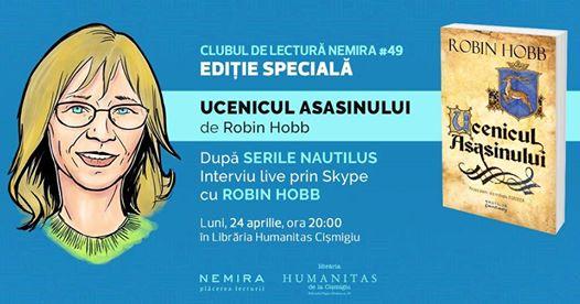 """Clubul de lectură Nemira #49 - """"Ucenicul asasinului"""", de Robin Hobb"""