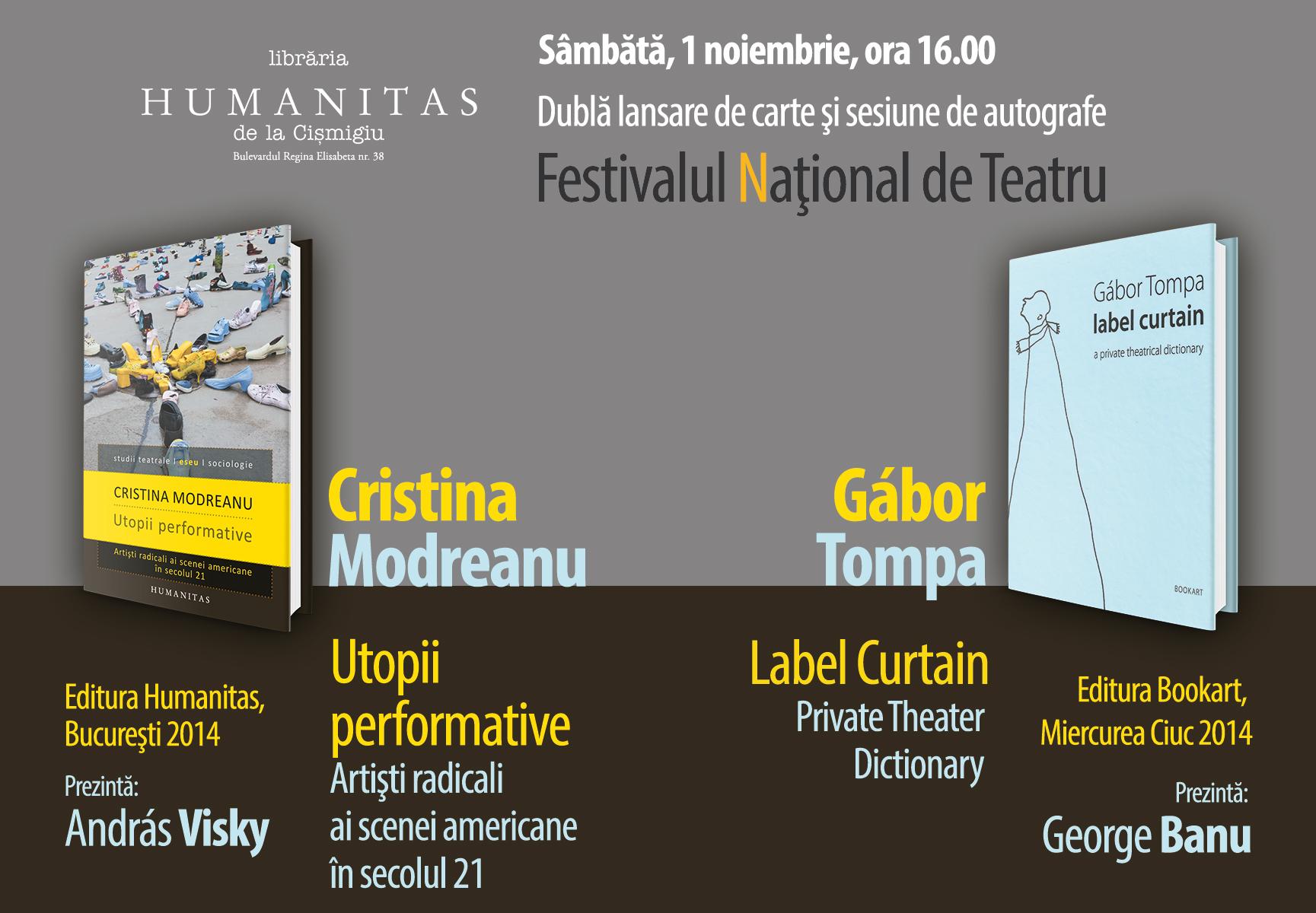 Dublă lansare și sesiune de autografe Cristina Modreanu și Tompa Gábor