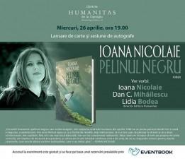"Despre ""Pelinul negru"" de Ioana Nicolaie la Humanitas Cişmigiu"