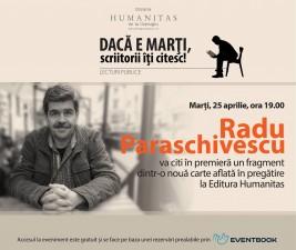 Radu Paraschivescu, lectură în premieră dintr-o nouă carte