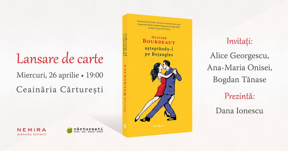 """Lansare de carte: """"Aşteptându-l pe Bojangles"""", de Olivier Bourdeaut"""