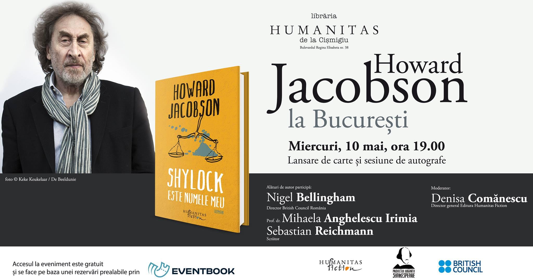 Howard Jacobson la Bucureşti – lansare şi sesiune de autografe