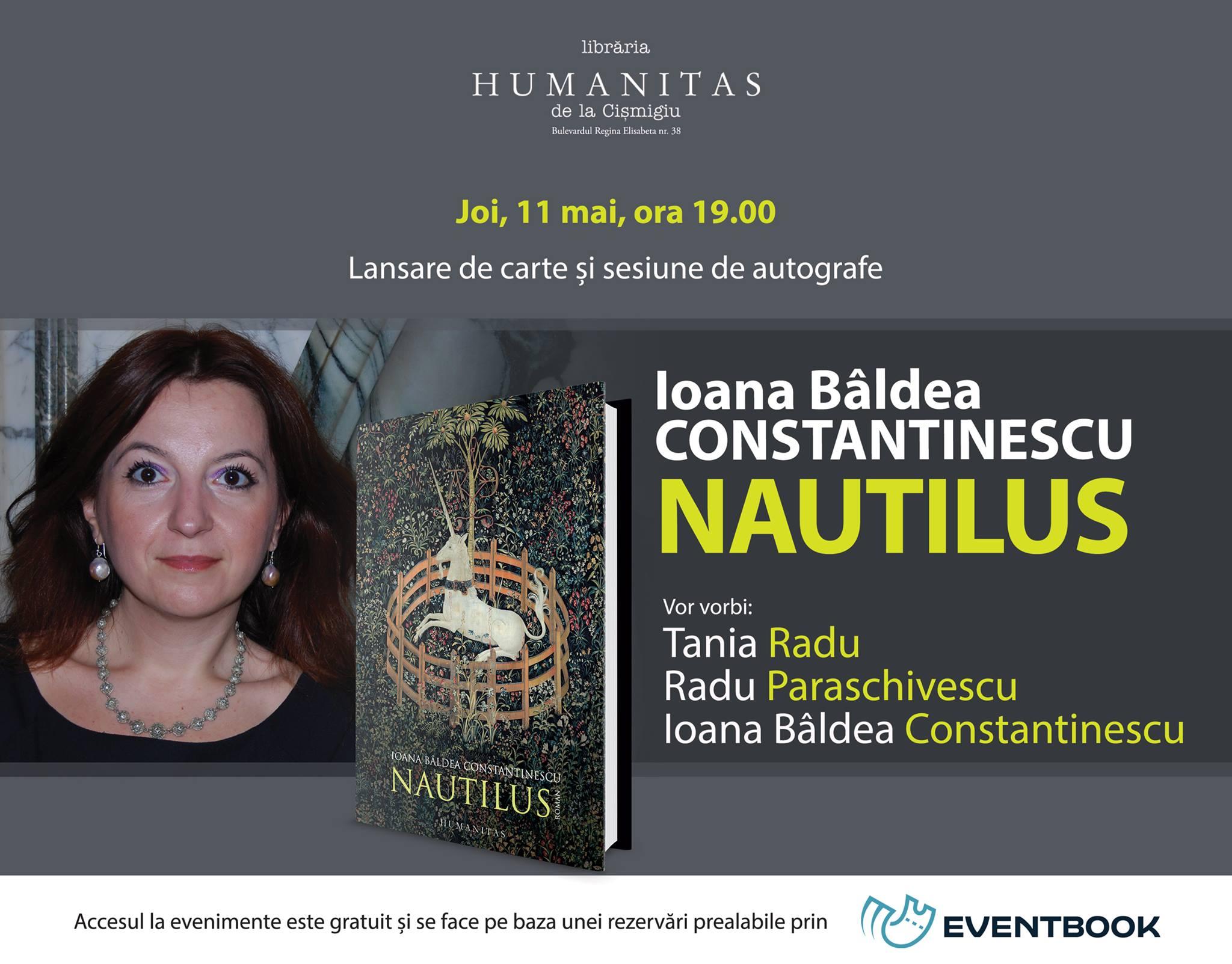 """Ioana Bâldea Constantinescu şi invitaţii săi despre """"Nautilus"""""""