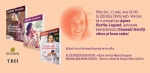 Întâlnire cu Agnès Martin-Lugand la Cărturești Verona!