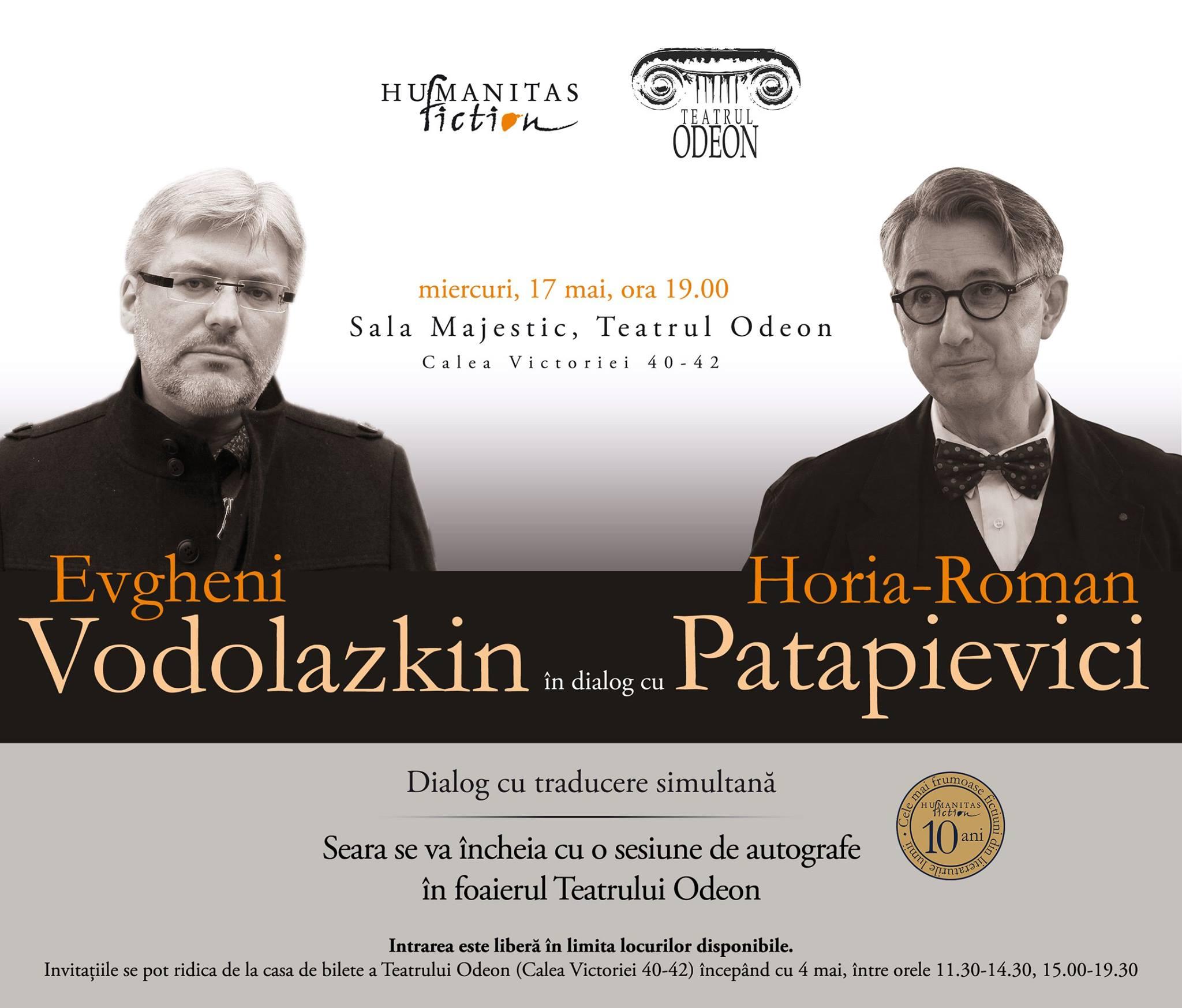 Evgheni Vodolazkin în dialog cu Horia-Roman Patapievici