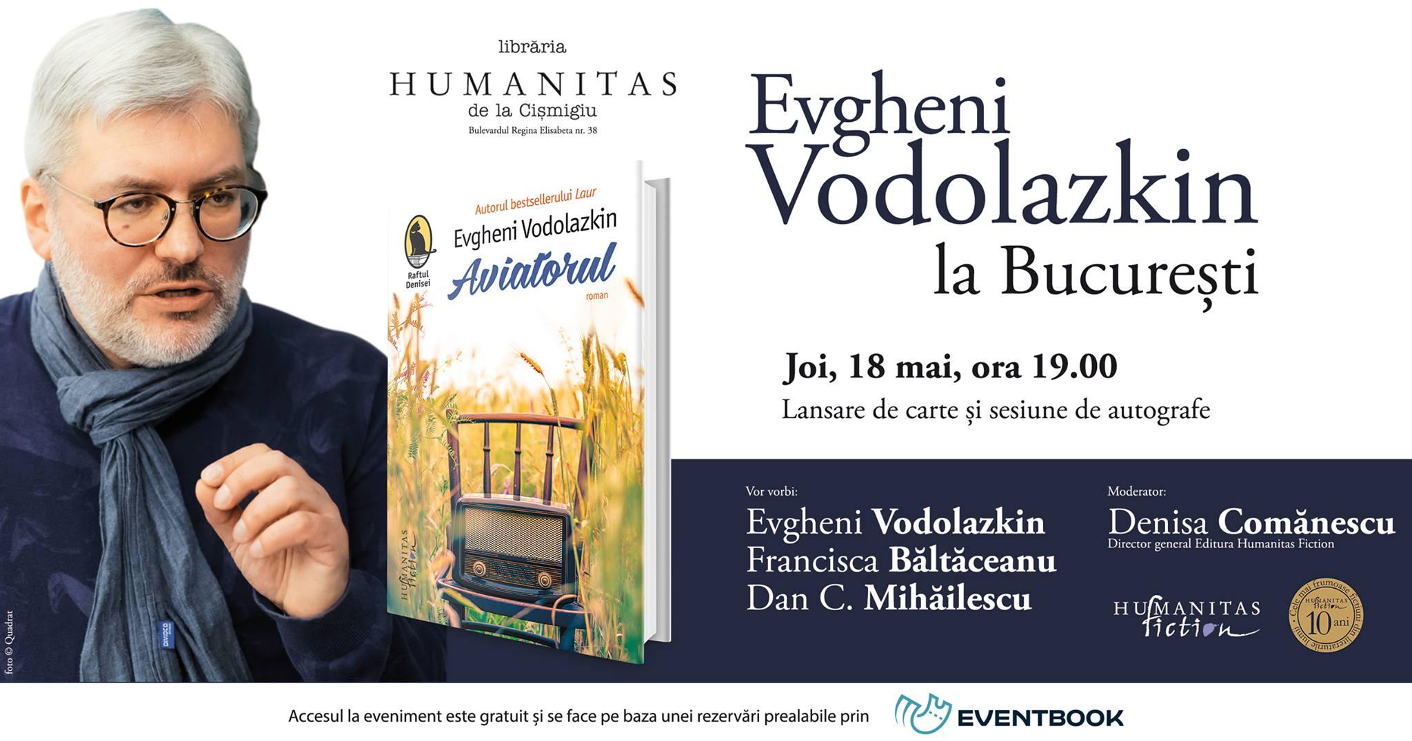Evgheni Vodolazkin lansează o nouă carte la Bucureşti