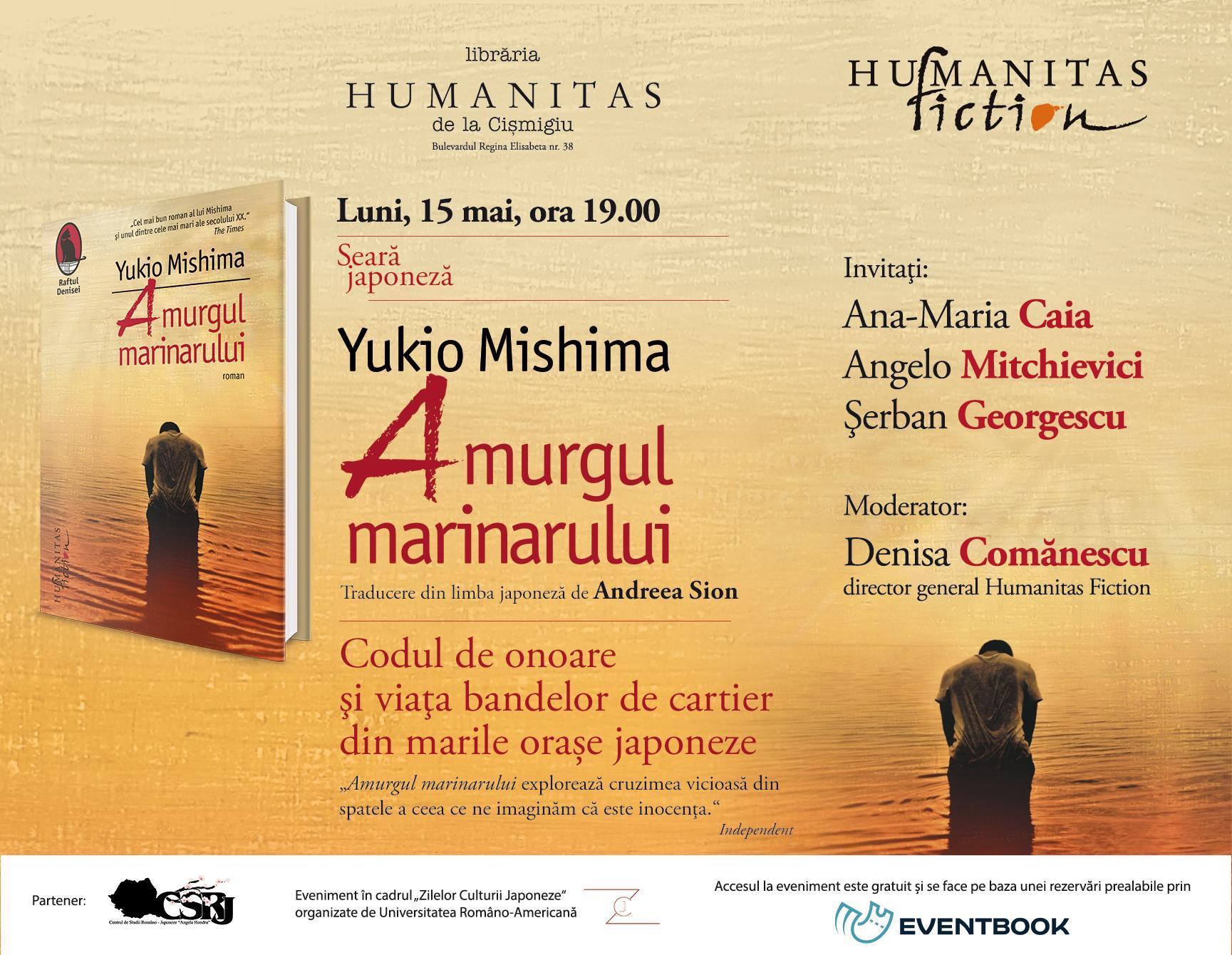 """Seară japoneză Yukio Mishima, """"Amurgul marinarului"""""""