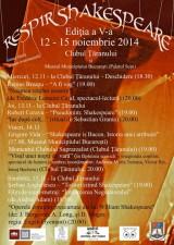 În Bucureşti se respiră Shakespeare între 12 şi 15 noiembrie