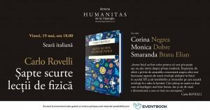 """Seară Italiană dedicată cărţii """"Șapte scurte lecții de fizică"""""""