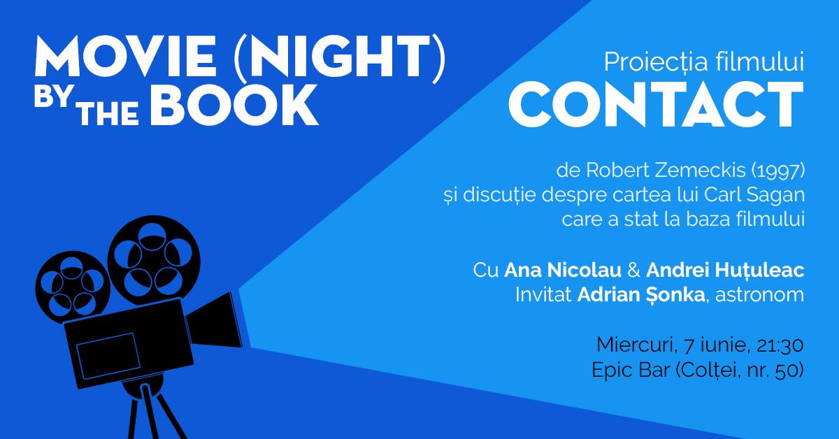 "Movie night by the book – proiecţie ""Contact"""