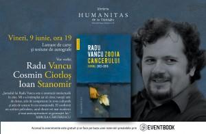 """Lansare """"Zodia Cancerului. Jurnal 2012–2015"""", de Radu Vancu"""