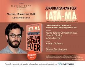 """Lansare Jonathan Safran Foer, """"Iată-mă"""""""