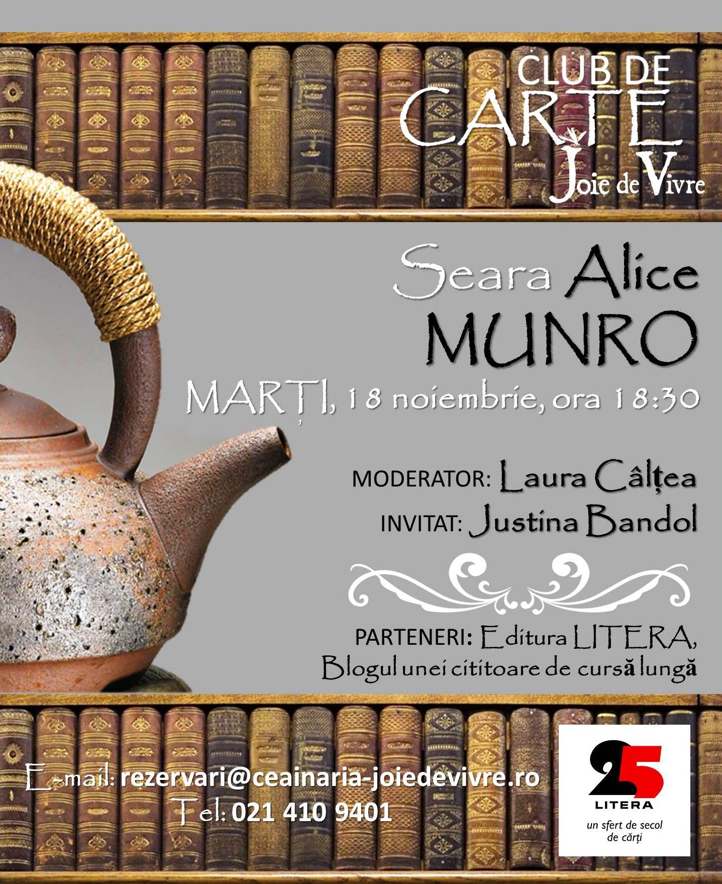 Seară Alice Munro, Clubul de carte Joie de Vivre