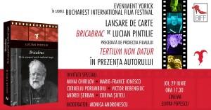 """Lansare de carte: """"Bricabrac"""", de Lucian Pintilie"""
