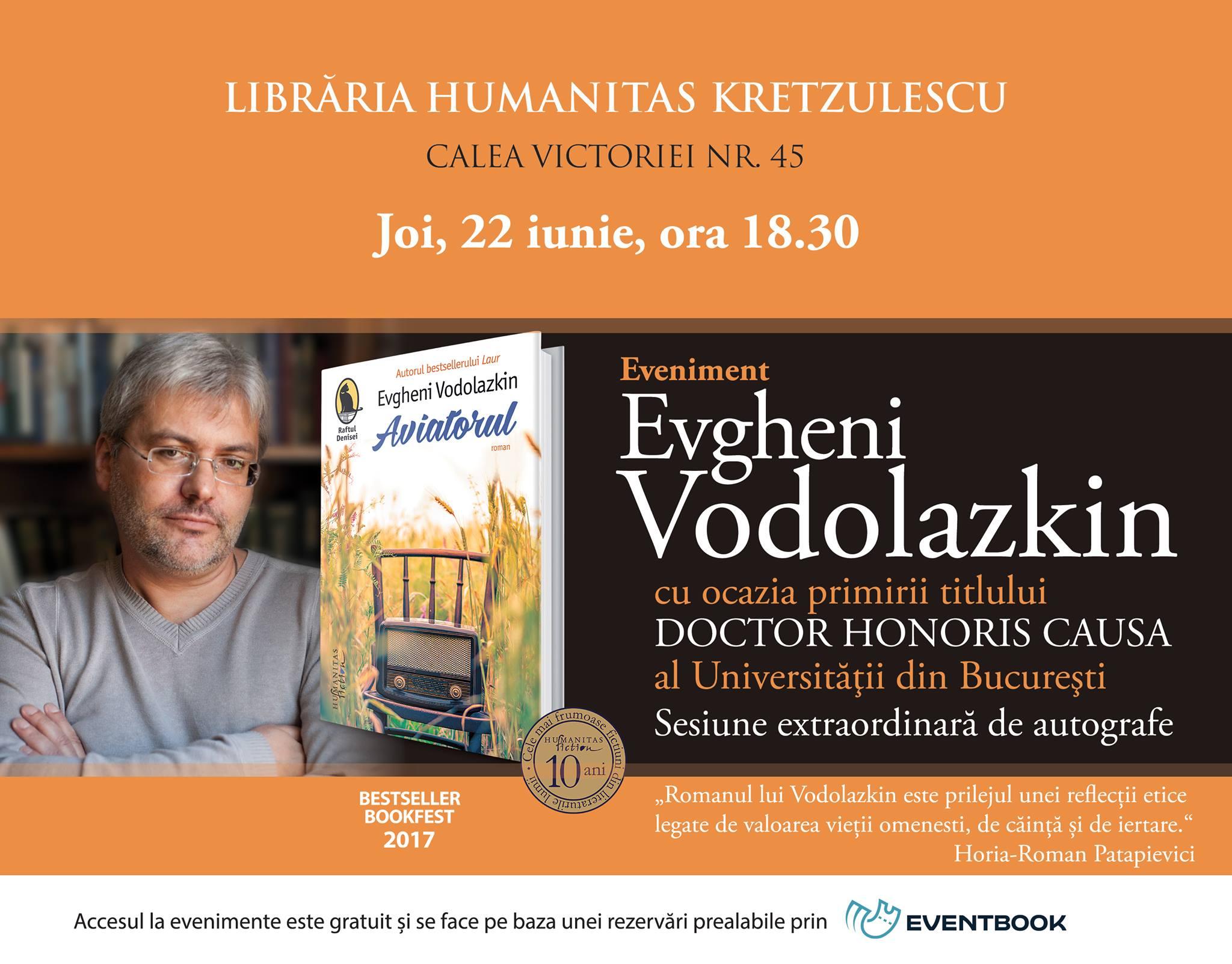 Evgheni Vodolazkin – sesiune extraordinară de autografe