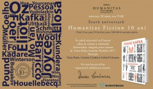 Humanitas Fiction 10 ani – seară aniversară