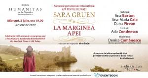 "Lansare Sara Gruen, ""La marginea apei"""