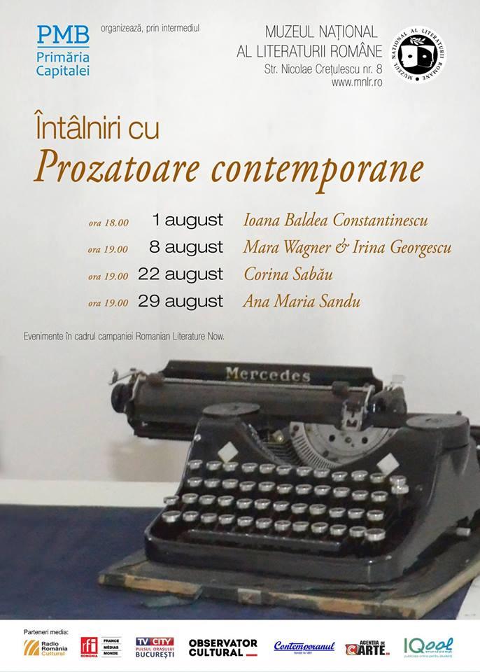 Întâlniri cu prozatoare contemporane: Ioana Bâldea Constantinescu