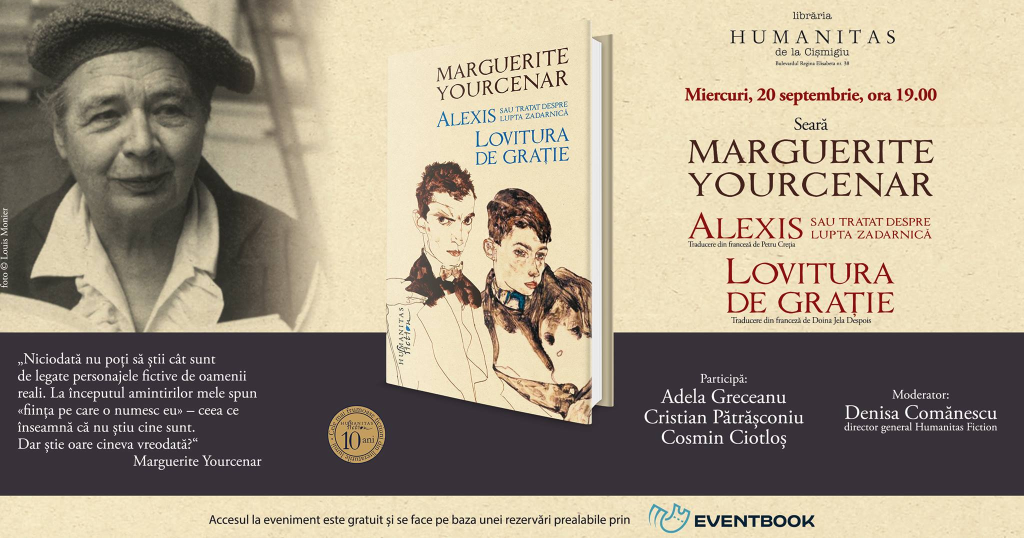 Seară Marguerite Yourcenar