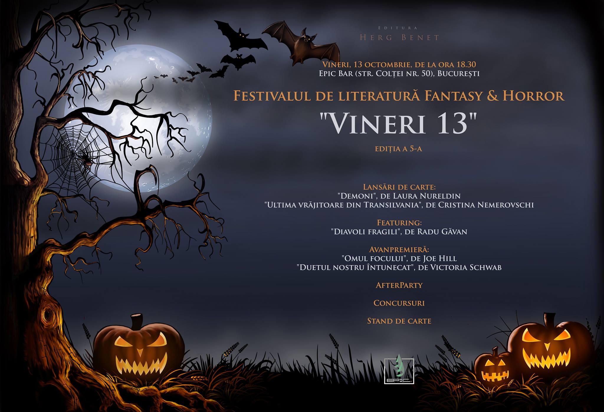Festivalul de literatură Vineri 13 - ediția a 5-a