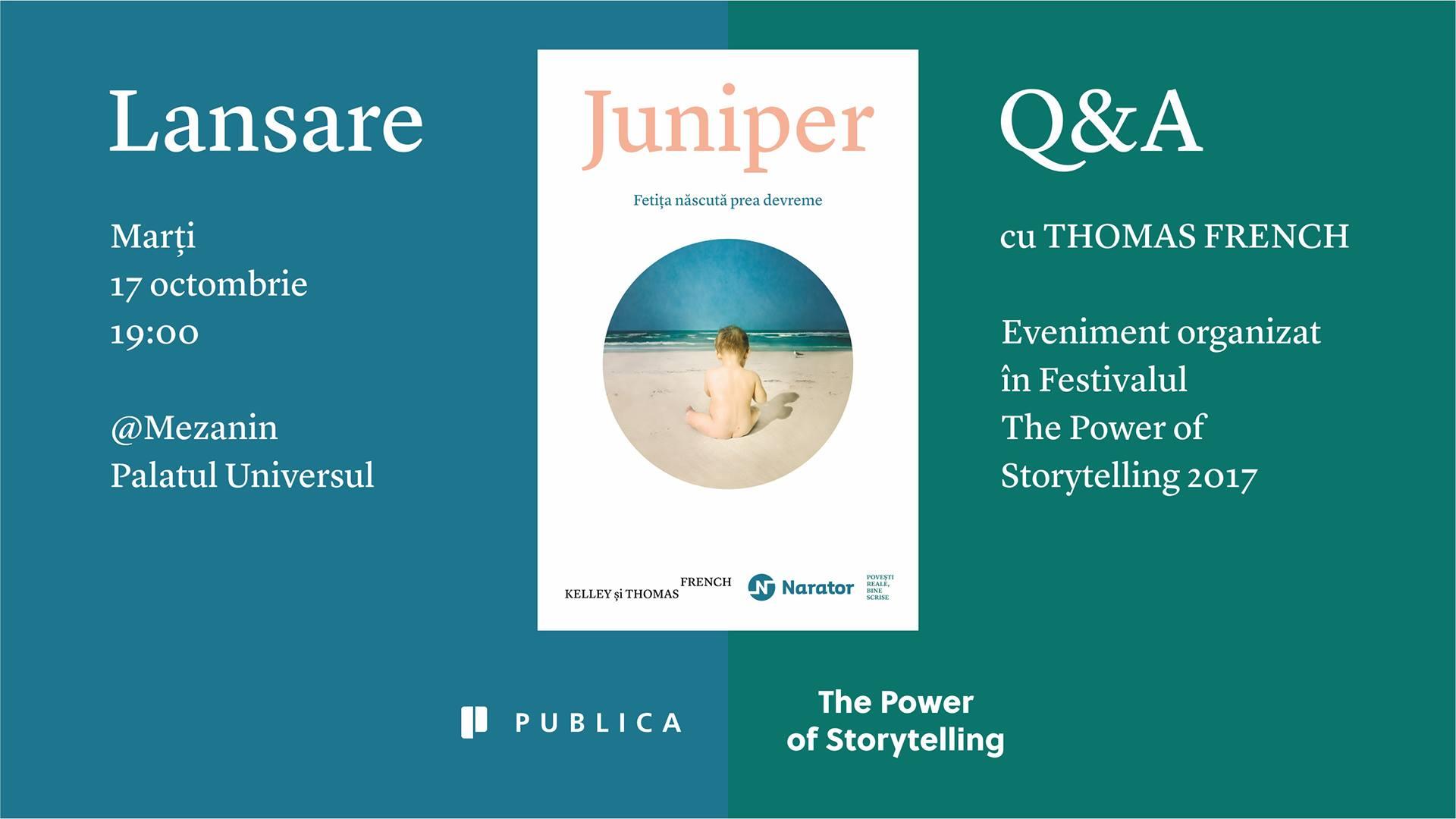 """Lansarea cărții """"Juniper"""""""