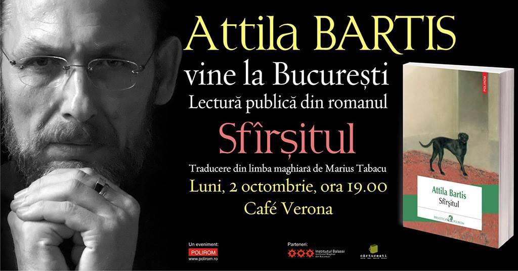 Attila Bartis citește din romanul Sfîrșitul la Café Verona
