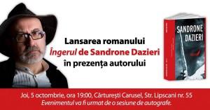 """Suspans la Cărturești: """"Îngerul"""" de Sandrone Dazieri"""